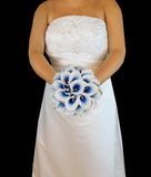Blue Picasso Calla Lily Wedding Bouquet Collection