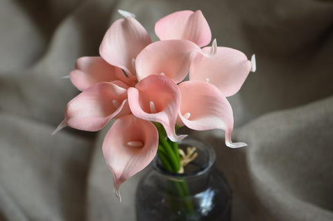 Blush Pink real touch calla lily