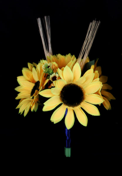Sunflower and Wheat Bridesmaids Bouquet