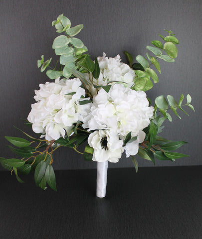 A Forest Hydrangea Brides Bouquet