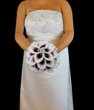 Burgundy Picasso Calla Lily Wedding Bouquet Collection