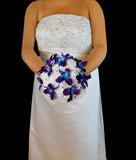 A New Dendrobium Orchid and Rose Wedding Bouquet Collection
