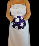 Purple and white Rose Brides Bouquet
