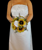 Sunflower and Wheat Wedding Bouquet Collection