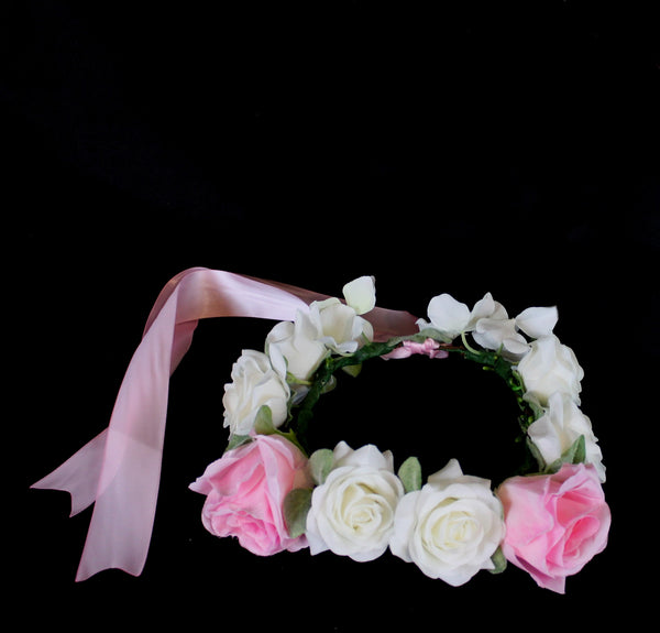 Soft Rose flower crown