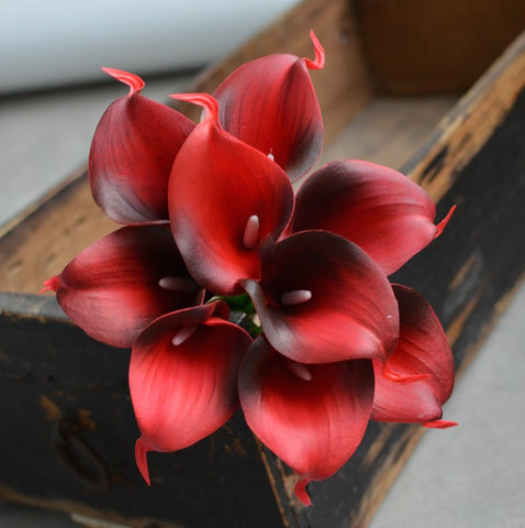 Dark Red real touch calla lily