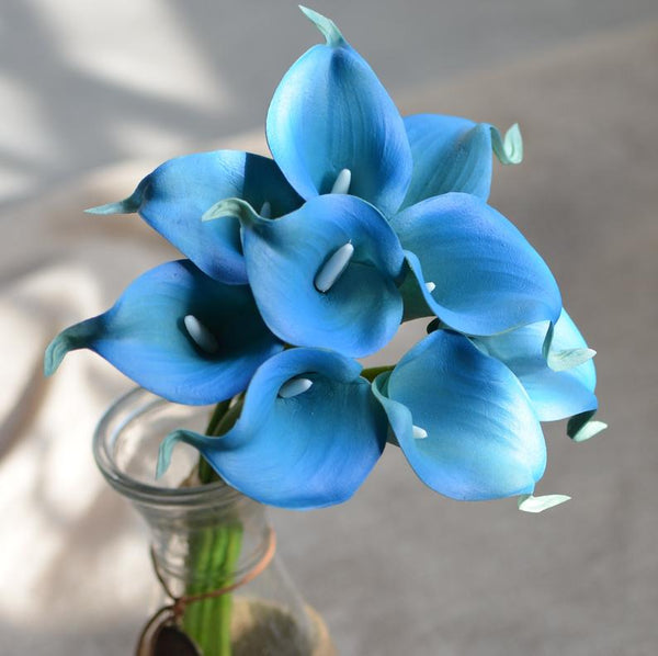 Dark Turquoise real touch calla lily