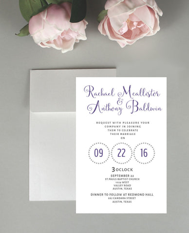 Bashful Wedding Invitation