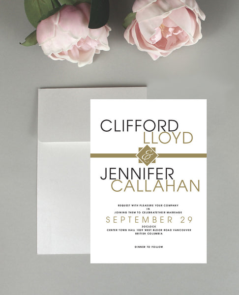 Clean Text Wedding Invitation
