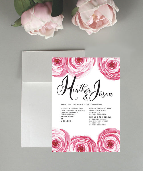 A Renoncule Floral Dream Wedding Invitation Set