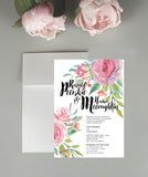 A Peony Dream Wedding Invitation Set