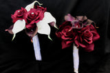 Calla Lily & Rose Wedding Bouquet Collection