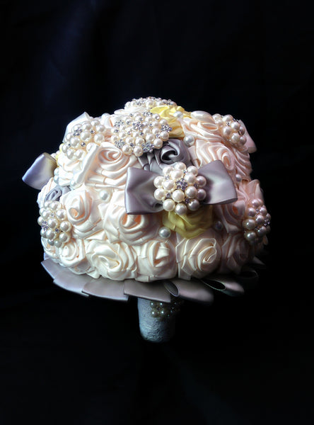 Ivory Ribbon Brides Bouquet