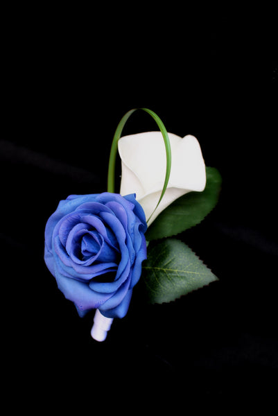boutonnieres, button holes, buttonholes, wedding boutonnieres, calla lily and roseboutonnieres