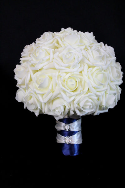 Classic Ivory Rose Brides Bouquet