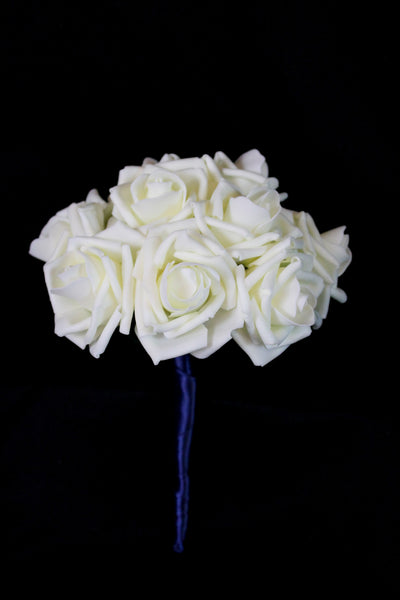 Classic Ivory Rose Bridesmaids Bouquet