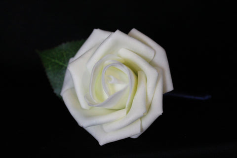 Classic Ivory Rose Boutonniere