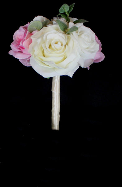 Ivory and Blush pink Rose Jr. Bouquet