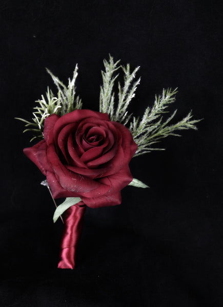 Christmas Wedding Boutonniere