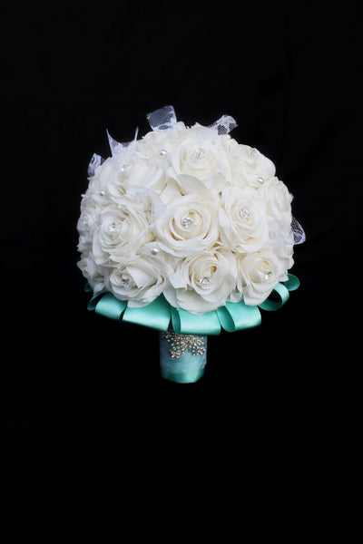Ivory Rose Wedding Bouquet Collection