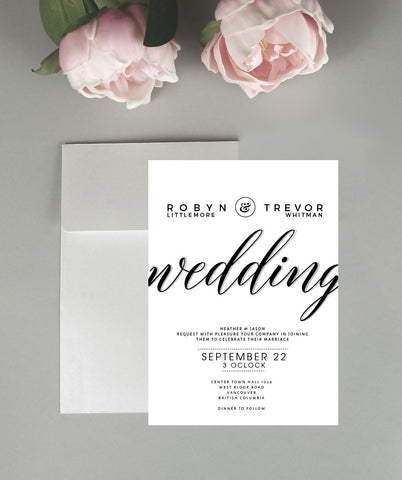 A Wedding Invitation Set