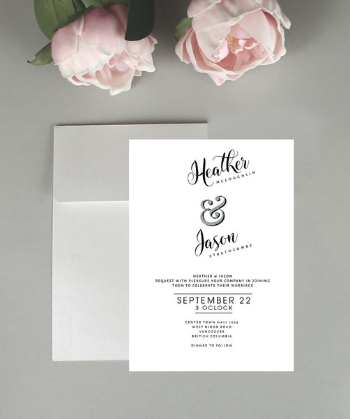 Fun Script Wedding Invitation Set