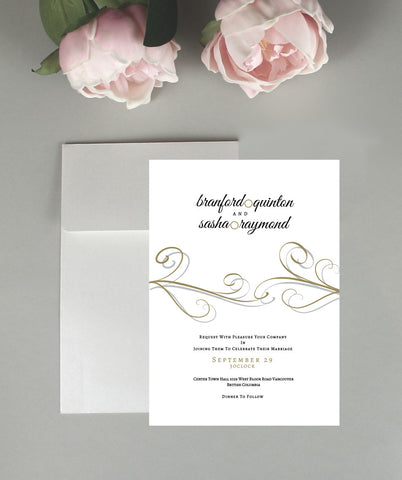A Swirl Wedding Invitation Set
