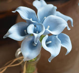 Malibu Blue / Pale Blue real touch calla lily