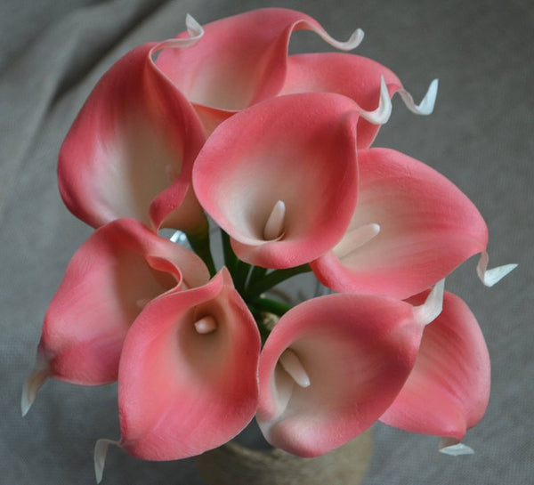 Pink Coral real touch calla lily