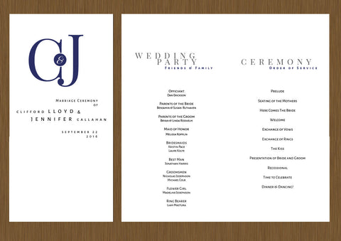 wedding programs, wedding program,modern wedding program