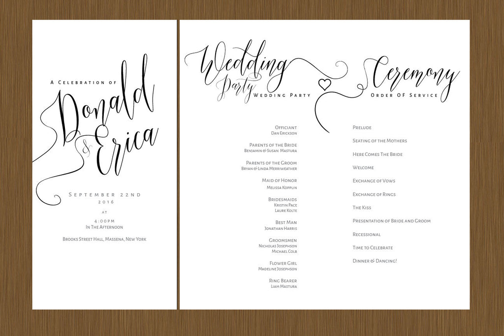 wedding programs detail wedding design