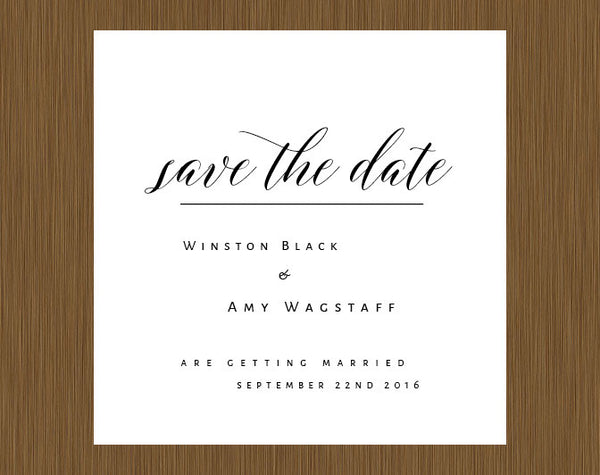 Elegant Script Save the Date