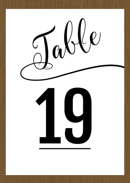 table numbers, wedding table numbers, table number cards