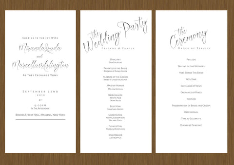 wedding programs design