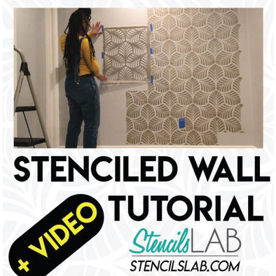 The Best Stenciled Wall by Khadijah Pearce