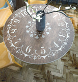 Clock Stencil - Table Clock Stencil - Furniture & Wall Stencil - DIY Clock Stencil - Stencil