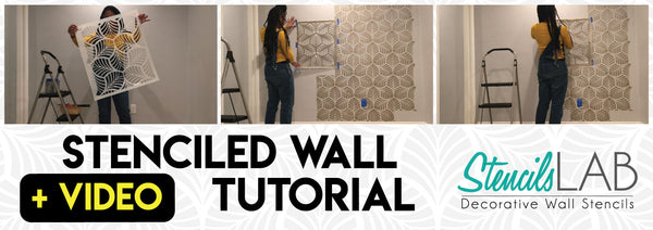 Best Stenciled Wall Tutorial Video- StencilsLAB