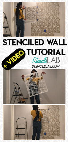Stenciled Wall Tutorial- StencilsLAB wall Stencils