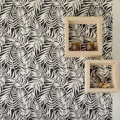 JUNGLE - Palm Wall Stencil - Floral Design Wall Art Stencils Large Reusable Wall Stencils-StencilsLAB Wall Stencils