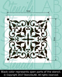 ROBYN- Portuguese Tile Stencils - Stencil For Floor And Walls-StencilsLAB Wall Stencils