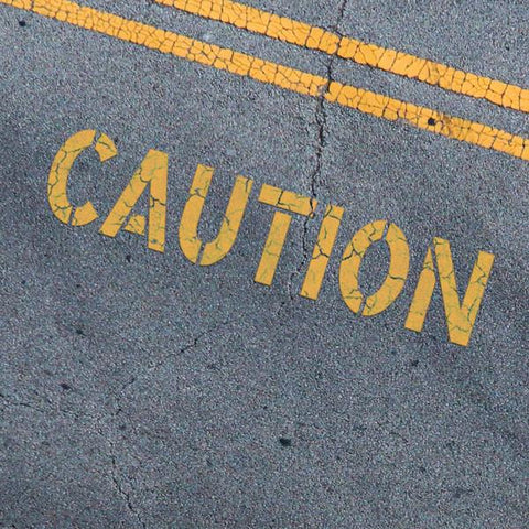 CAUTION Stencil - Parking Lot Stencils - Industrial Stencils--StencilsLab Wall Stencils