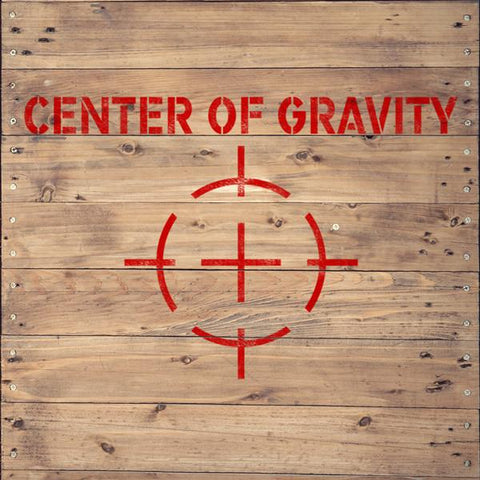 Center Of Gravity Stencil - Shipping Stencils - Industrial Stencils--StencilsLab Wall Stencils