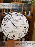 Clock Stencil - Table Clock Stencil - Furniture & Wall Stencil - DIY Clock Stencil - Stencil - StencilsLab Wall Stencils