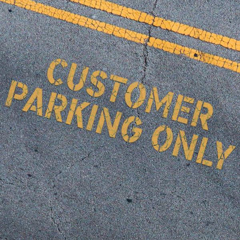 Customer Parking Only Stencil - Parking Lot Stencils - Industrial Stencils--StencilsLab Wall Stencils