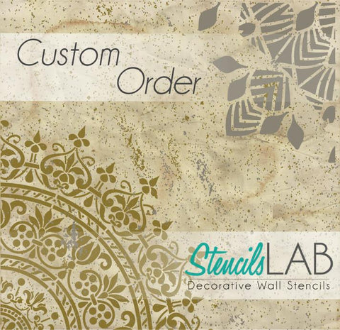 Customization for Annette Olsen - StencilsLab Wall Stencils