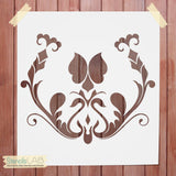 Damask Stencil For Wall Decor - Reusable Wall Stencil - Furniture Stencil - StencilsLab Wall Stencils