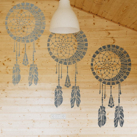 Dream Catcher Wall Stencil - Kids Room Decor Stencil - Dream Catcher Stencil For Wall Decor - StencilsLab Wall Stencils