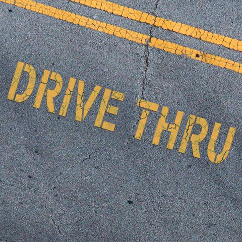 Drive Thru Stencil - Parking Lot Stencils - Industrial Stencils--StencilsLab Wall Stencils