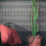 Efia- Tribal Allover Wall Stencil - StencilsLab Wall Stencils