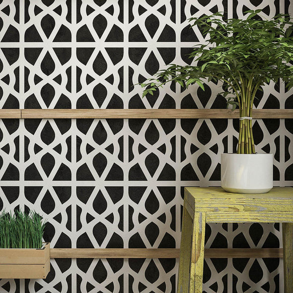 Geometric Wall Painting Stencil